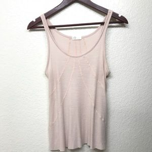 AG Adriano Goldschmied Light Pink Tank Small